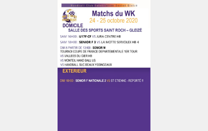 Programme week-end du 24 & 25 octobre